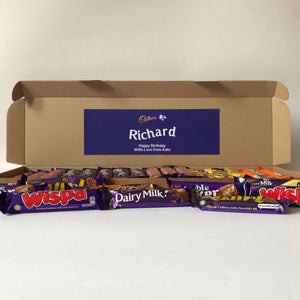 Personalised Cadbury Chocolate Letterbox Hamper-OurPersonalisedGifts.com