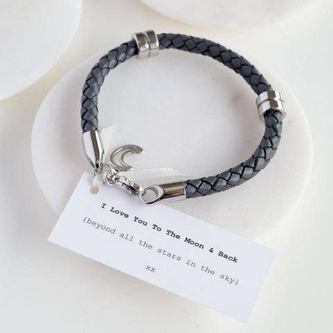 Moon & Back Wristband-OurPersonalisedGifts.com