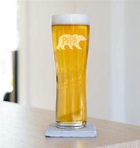 Papa Bear Pint Glass-OurPersonalisedGifts.com