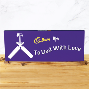Personalised 360g Cadbury Chocolate Bar - Cricket-OurPersonalisedGifts.com