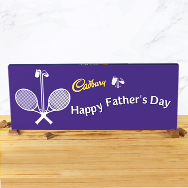 Personalised 360g Cadbury Chocolate Bar - Tennis-OurPersonalisedGifts.com