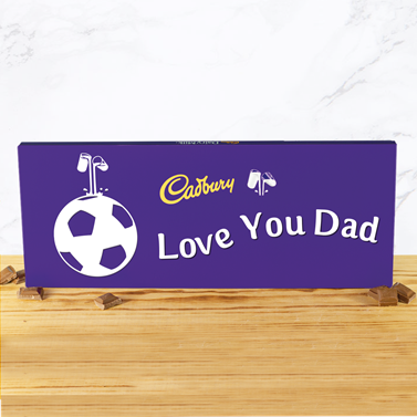 Personalised 850g Cadbury Chocolate Bar - Football-OurPersonalisedGifts.com