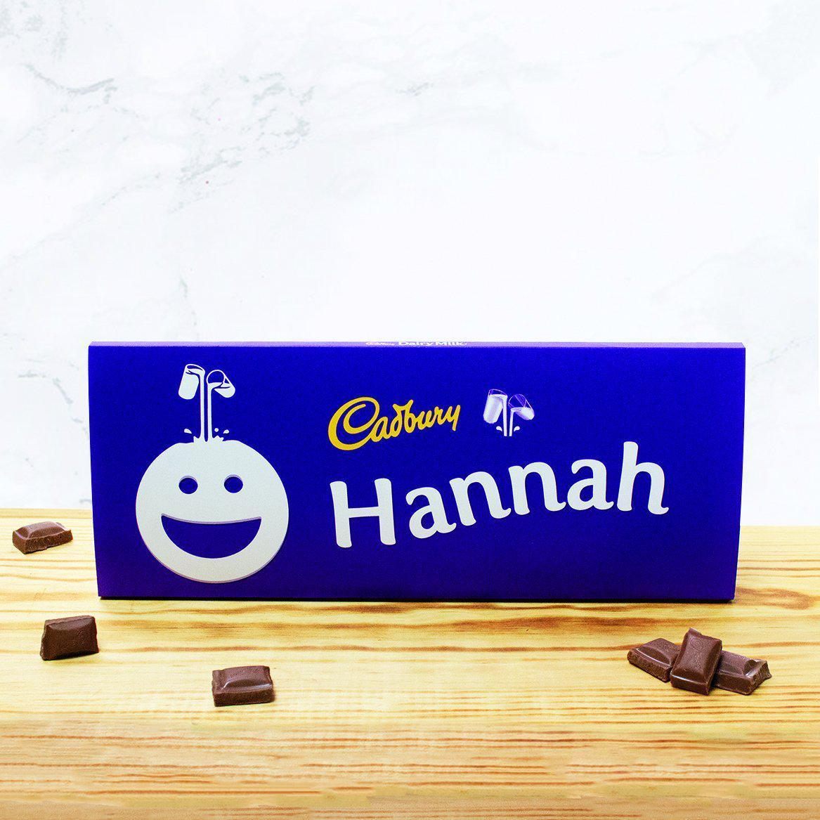 Personalised 850g Cadbury Chocolate Bar - Smiley Face-OurPersonalisedGifts.com