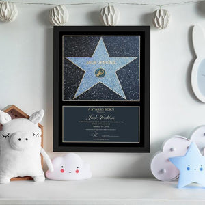 Personalised A Star is Born Blue Framed Print-OurPersonalisedGifts.com