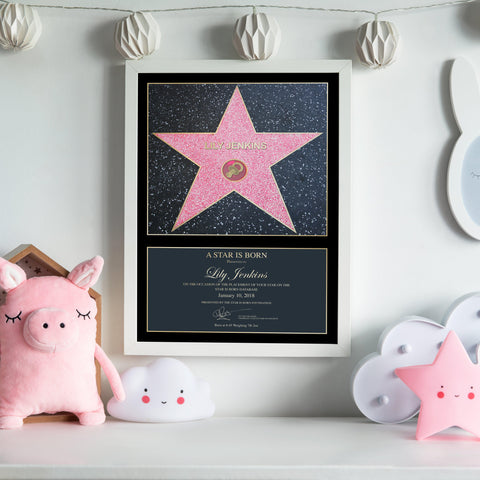 Personalised A Star is Born Pink Framed Print-OurPersonalisedGifts.com