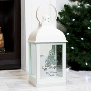 Personalised A Winter's Night White Lantern-OurPersonalisedGifts.com