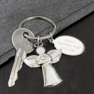 Personalised Angel Keyring-OurPersonalisedGifts.com
