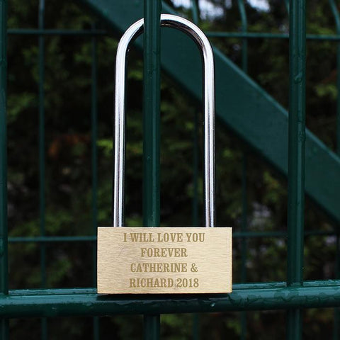 Personalised Any Message Love Lock-OurPersonalisedGifts.com