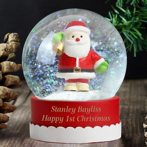 Personalised Any Message Santa Snow Globe-OurPersonalisedGifts.com