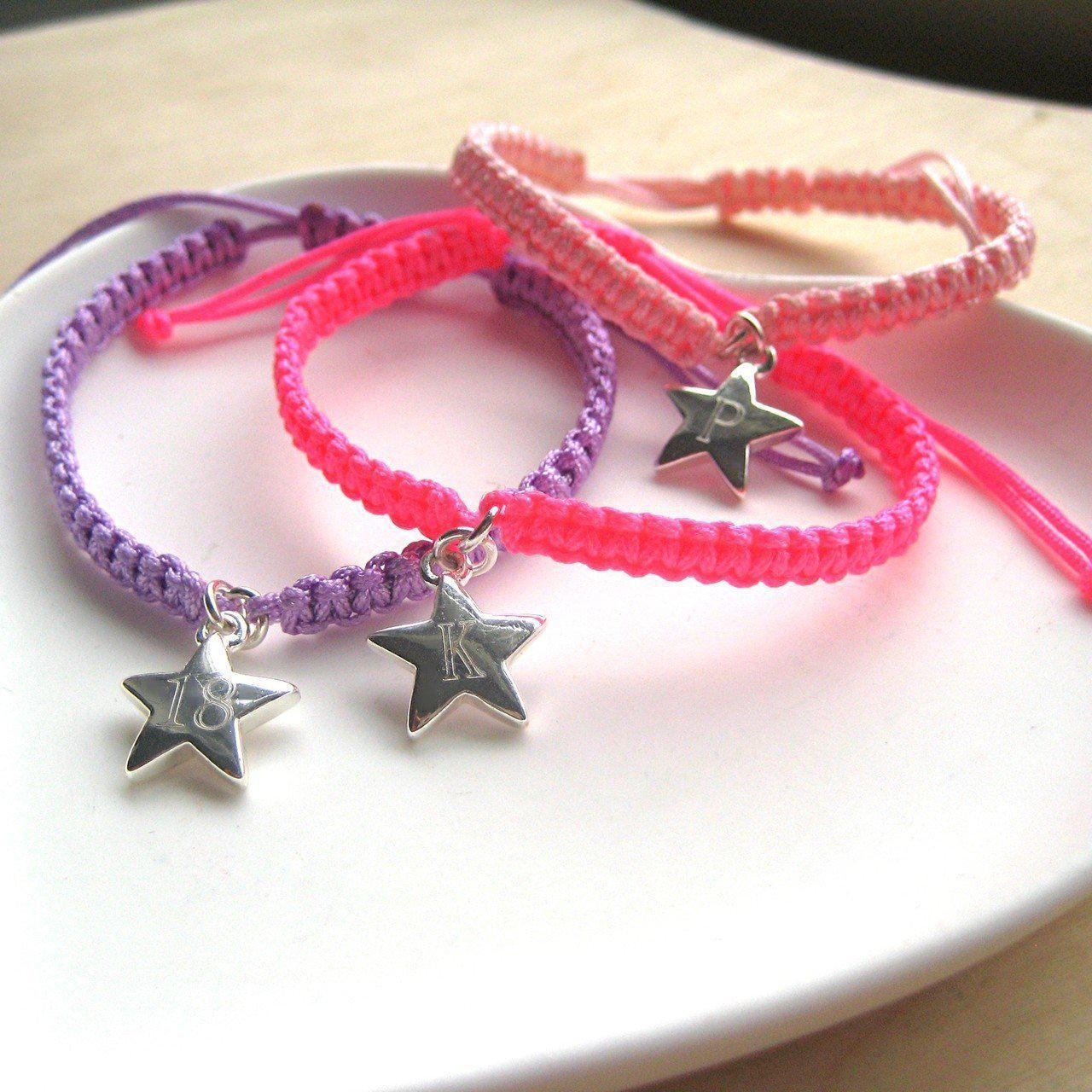 Personalised Star Friendship Bracelet-OurPersonalisedGifts.com