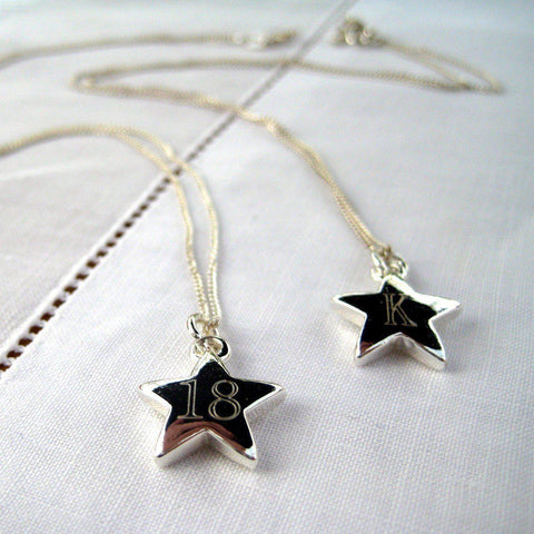Personalised Bantang Star Necklace-OurPersonalisedGifts.com