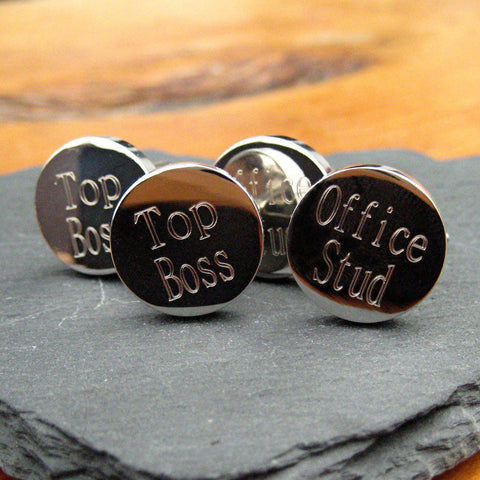 Personalised Batang Round Cufflinks-OurPersonalisedGifts.com