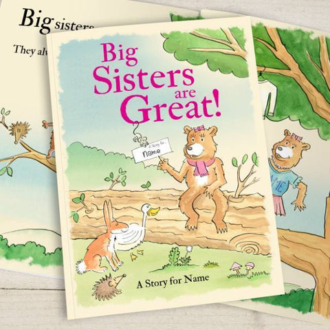Personalised Big Sisters are Great Book-OurPersonalisedGifts.com