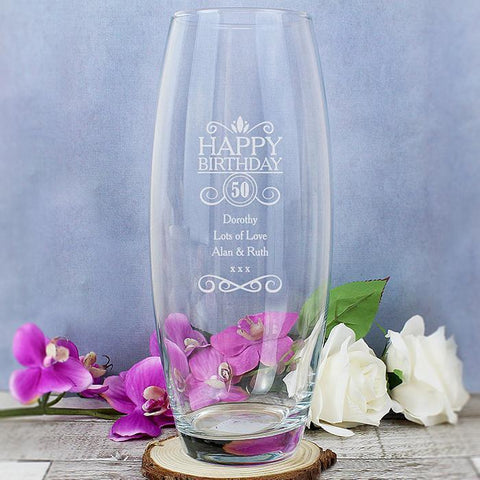Personalised Birthday Bullet Vase-OurPersonalisedGifts.com