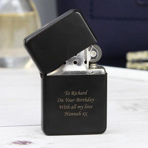 Personalised Black Lighter-OurPersonalisedGifts.com