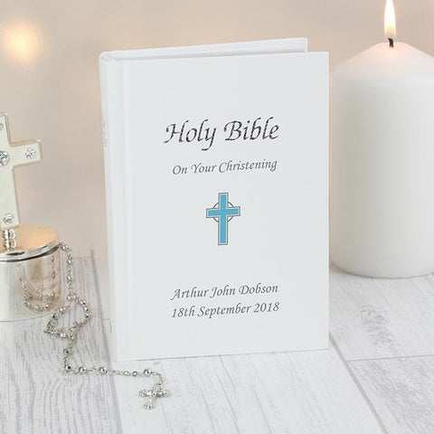 Personalised Blue Cross Bible-OurPersonalisedGifts.com