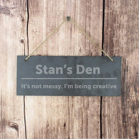 Personalised Bold Design Hanging Slate Plaque-OurPersonalisedGifts.com