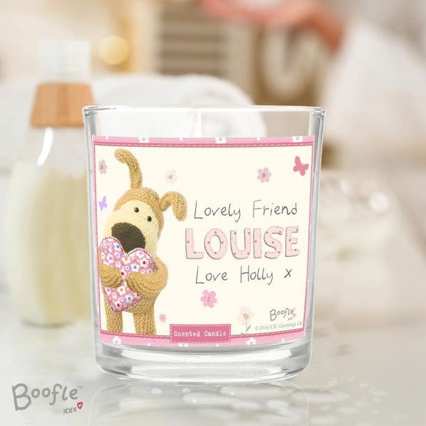 Personalised Boofle Flowers Scented Jar Candle-OurPersonalisedGifts.com