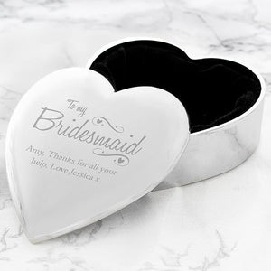 Personalised Bridesmaid Swirls & Hearts Trinket Box-OurPersonalisedGifts.com
