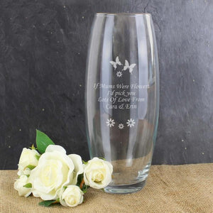 Personalised Butterflies and Flowers Bullet Vase-OurPersonalisedGifts.com