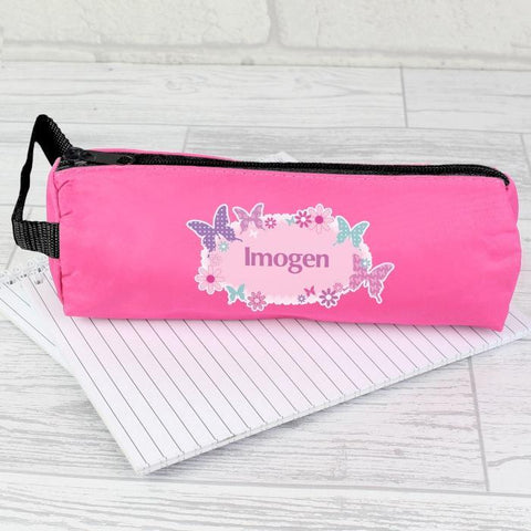 Personalised Butterfly Pencil Case-OurPersonalisedGifts.com