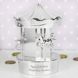 Personalised Carousel Moneybox-OurPersonalisedGifts.com