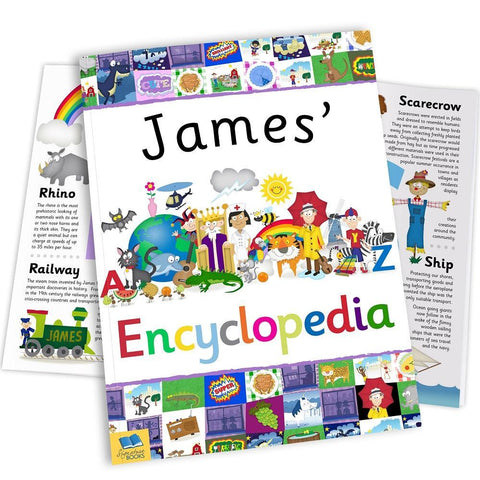 Personalised Children's Encyclopedia Book-OurPersonalisedGifts.com
