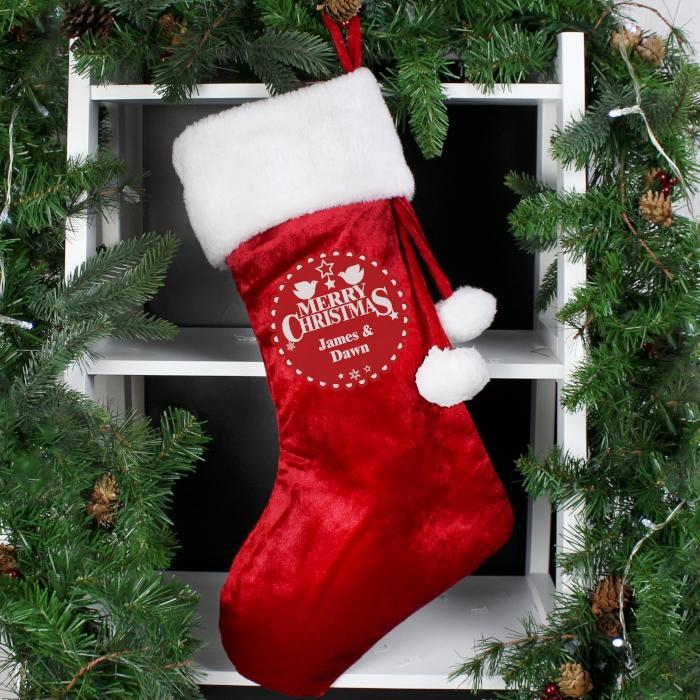 Personalised Christmas Wishes Luxury Stocking-OurPersonalisedGifts.com