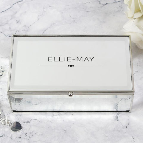Personalised Classic Mirrored Jewellery Box-OurPersonalisedGifts.com
