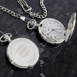 Personalised Classic Pocket Fob Watch-OurPersonalisedGifts.com