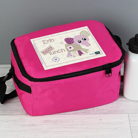 Personalised Cotton Zoo Elephant Lunch Bag-OurPersonalisedGifts.com