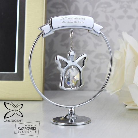 Personalised Crystocraft Swarovski Angel Ornament-OurPersonalisedGifts.com