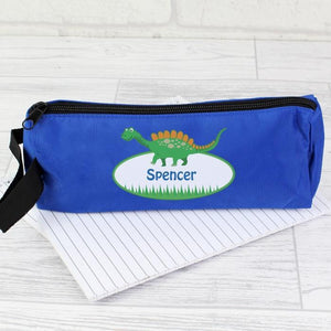 Personalised Dinosaur Pencil Case-OurPersonalisedGifts.com