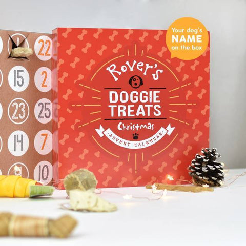 Personalised Dog Treats Advent Calendar-OurPersonalisedGifts.com