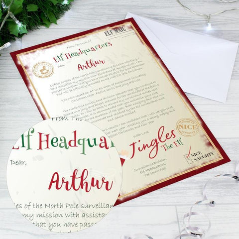 Personalised Elf Surveillance Christmas Letter-OurPersonalisedGifts.com