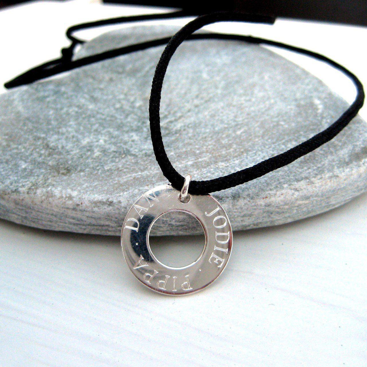 Personalised Eternity Cord Necklace-OurPersonalisedGifts.com