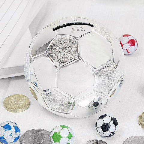 Personalised Football Money Box-OurPersonalisedGifts.com