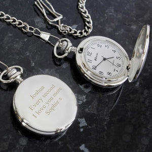 Personalised Formal Pocket Fob Watch-OurPersonalisedGifts.com