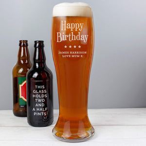 Personalised Giant Beer Glass-OurPersonalisedGifts.com