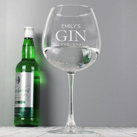 Personalised Gin Balloon Glass-OurPersonalisedGifts.com