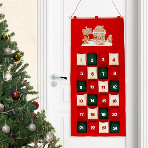 Personalised Gingerbread House Advent Calendar-OurPersonalisedGifts.com