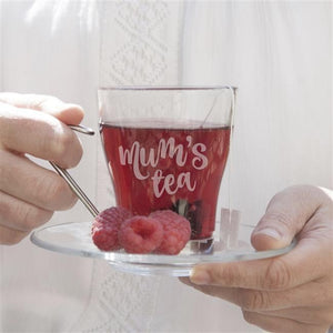 Personalised Glass Tea Cup-OurPersonalisedGifts.com