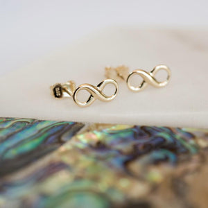 Personalised Gold Infinity Earrings-OurPersonalisedGifts.com