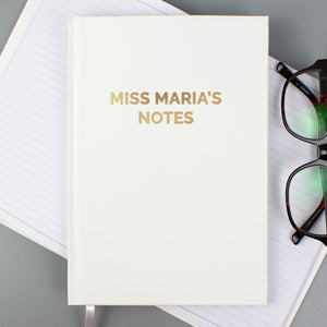 Personalised Gold Message Hardback A5 Notebook-OurPersonalisedGifts.com