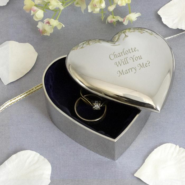 Personalised Heart Trinket Box-OurPersonalisedGifts.com