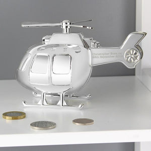 Personalised Helicopter Money Box-OurPersonalisedGifts.com