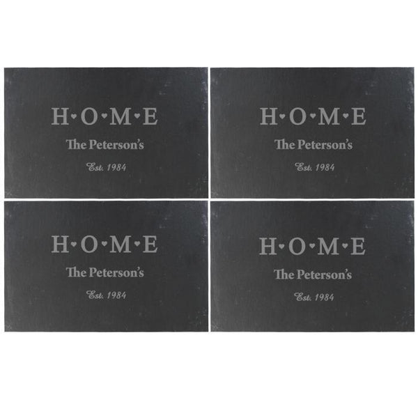 Personalised Home Slate Placemat 4 Pack-OurPersonalisedGifts.com