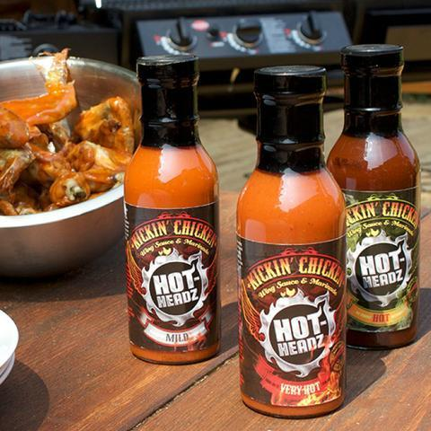 Personalised Hot Headz Kickin Chicken Hot Sauce Gift Set-OurPersonalisedGifts.com