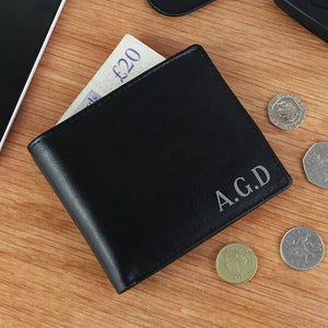 Personalised Initial Leather Wallet-OurPersonalisedGifts.com