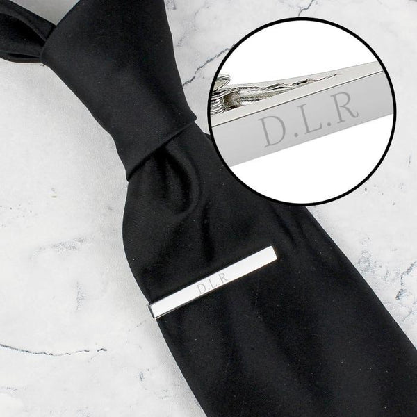 Personalised Initials Tie Clip-OurPersonalisedGifts.com